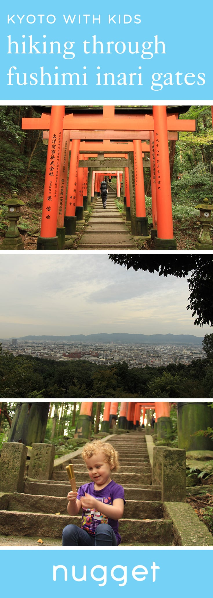 Kyoto for Kids: Hiking through Fushimi Inari Gates