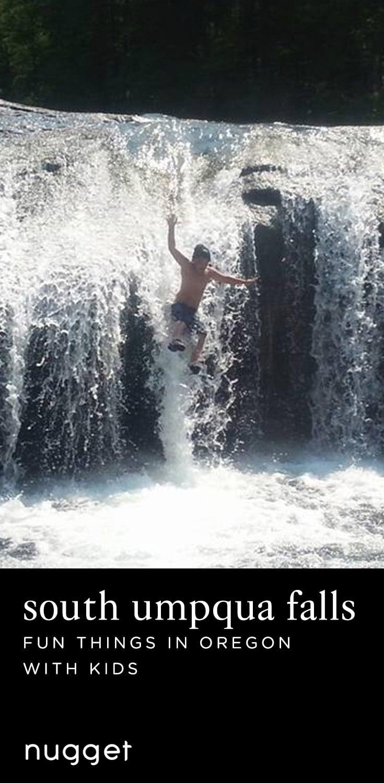 Natural Water Slides at South Umpqua Falls in Oregon