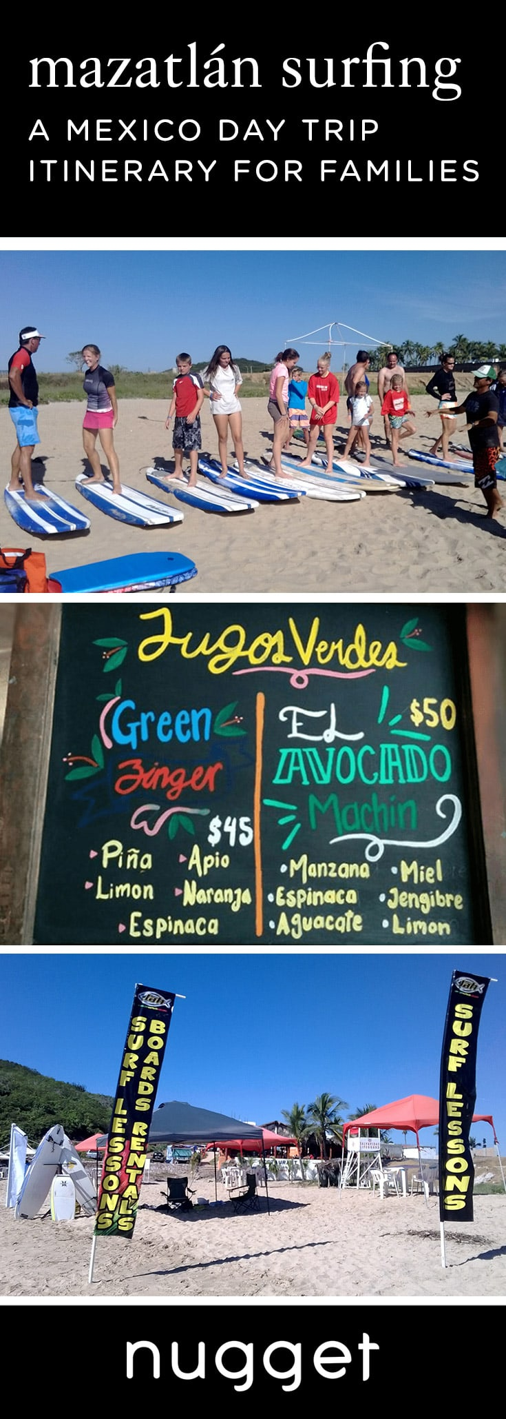 Teach Your Kids to Surf in Mazatlán, Mexico