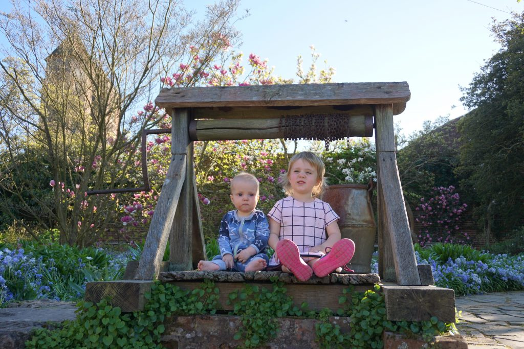 family travel kids garden