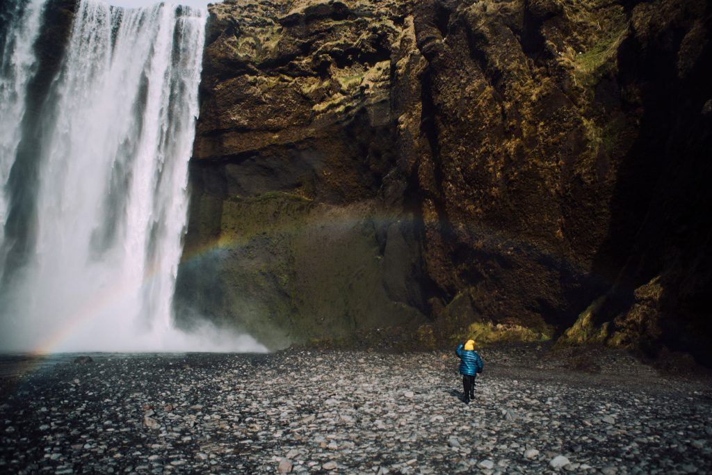 Iceland With kids Skogafoss Waterfall