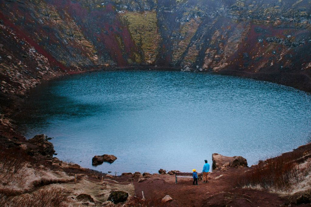 Iceland with kids Kerid Crater Lake