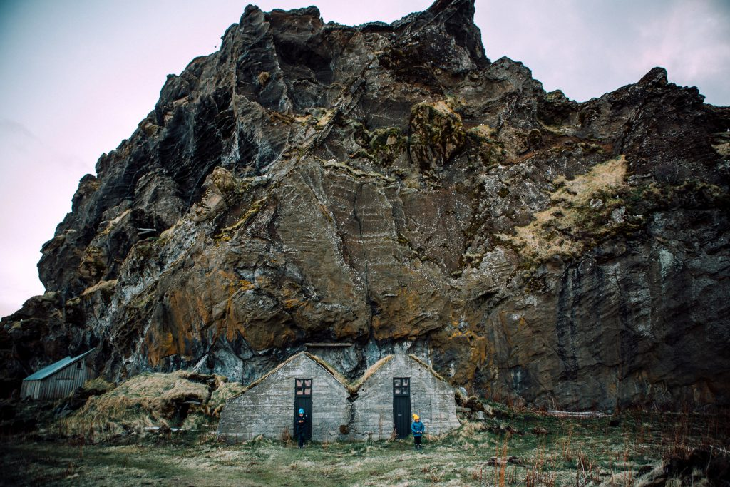 Iceland with kids rock houses