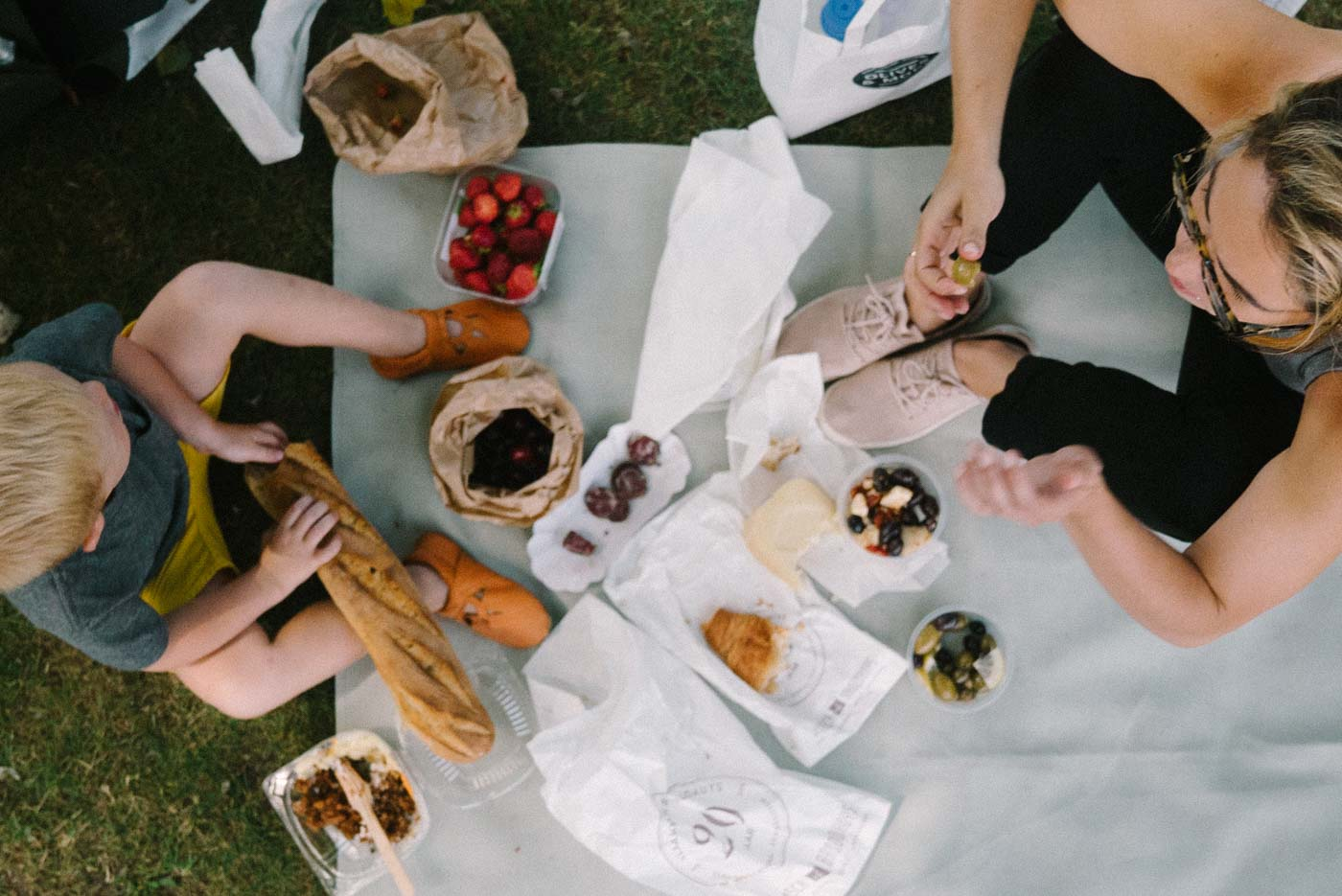family travel food picnic