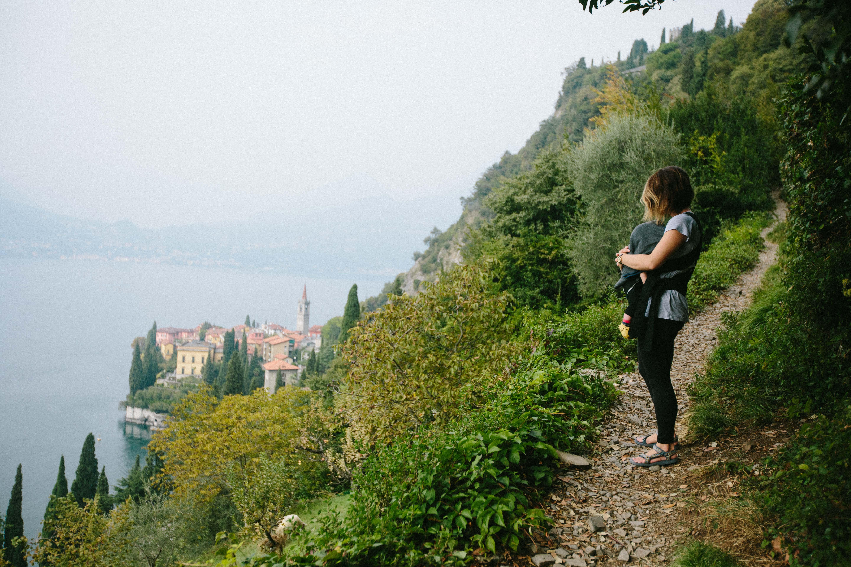 family travel europe lake baby
