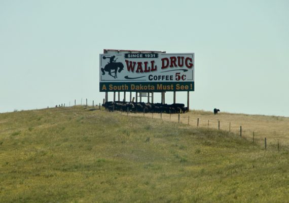 A Stop Along the Road at Wall Drug, South Dakota