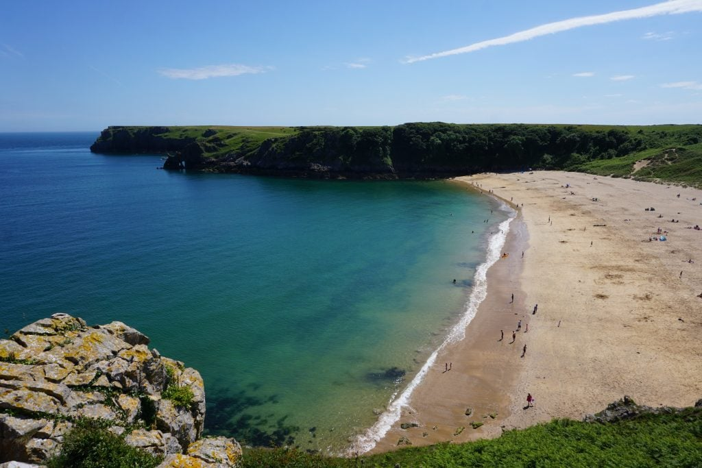 Barafundle Bay Beach Wales beaches with kids near Pembroke Castle
