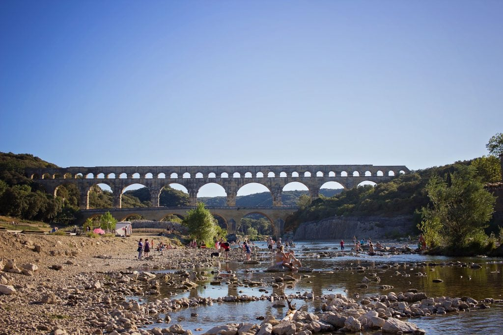 Pont du gard Provence with kids