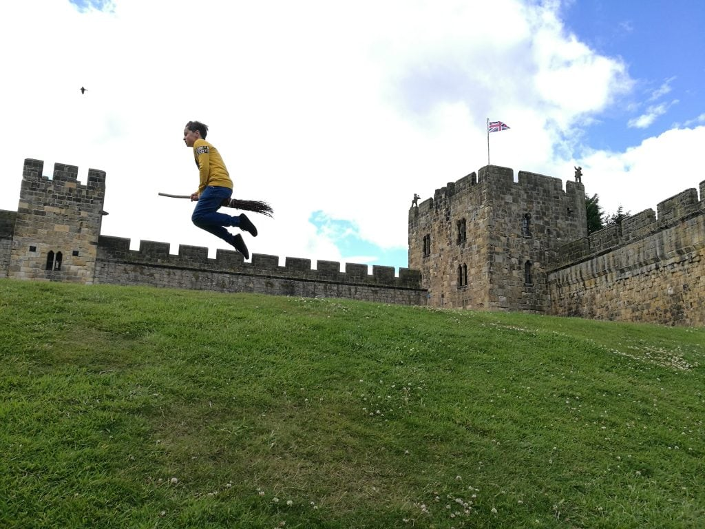 Flying lessons Alnwick Castle Harry Potter castle