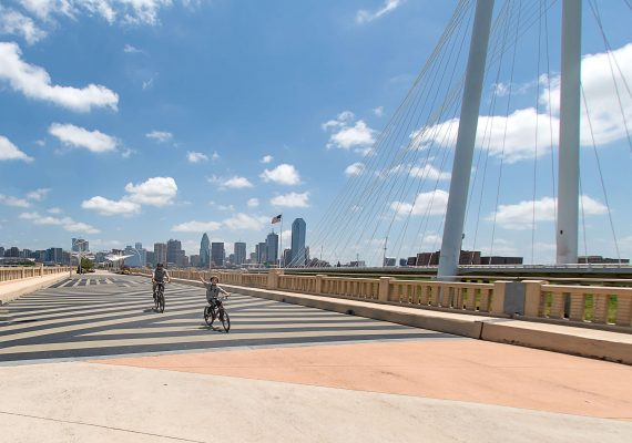 Biking Along the Dallas Skyline on the Trinity Skyline Trail
