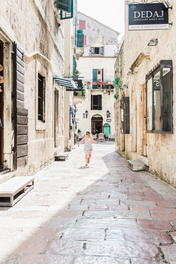 Take a walk through the cobblestone streets of Kotor