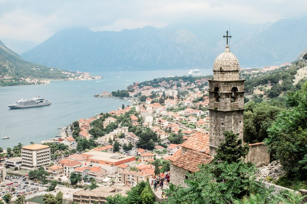 Kotor offers stunning views of the sea and mountains