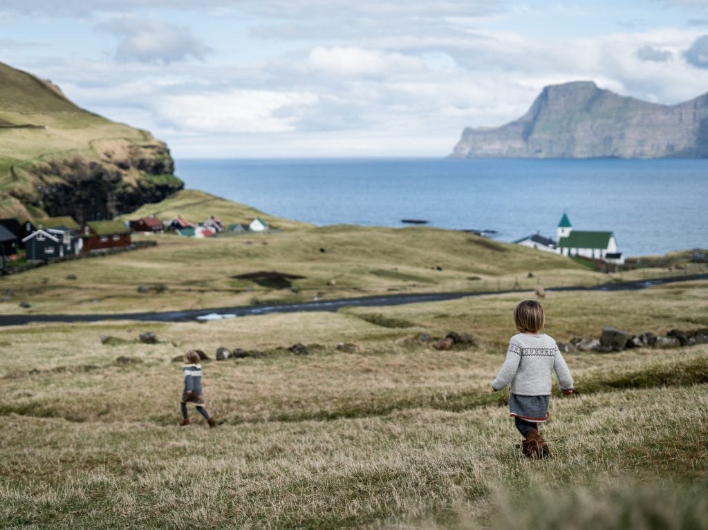 View of the Faroe Islands Coastline