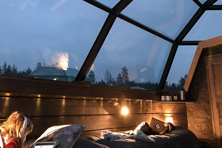 What to do in Finland with kids: Glass igloo