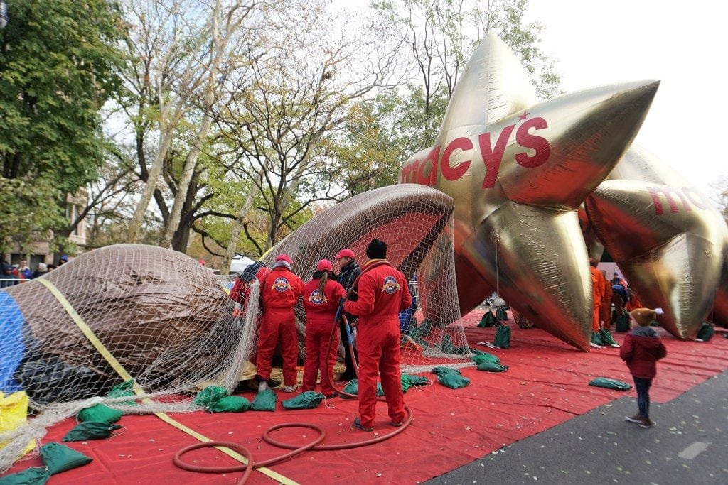 Things to do in NYC with Kids: Macy's Thanksgiving Parade Balloon Inflation