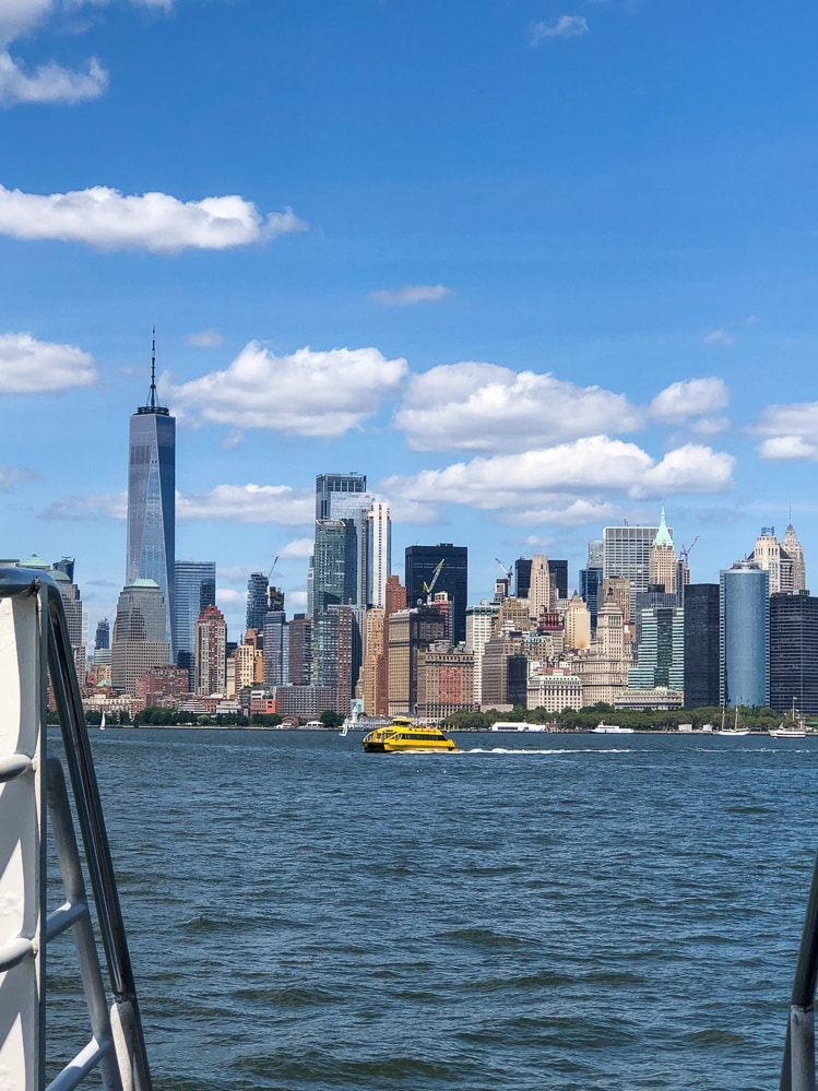 Things to do in NYC with kids: Manhattan skyline from ferry