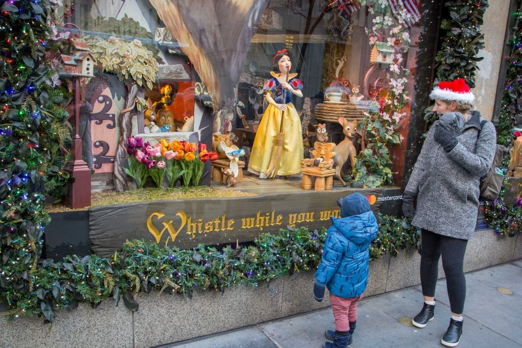 NYC for Kids: Snow White-Themed Window Displays of 5th Avenue