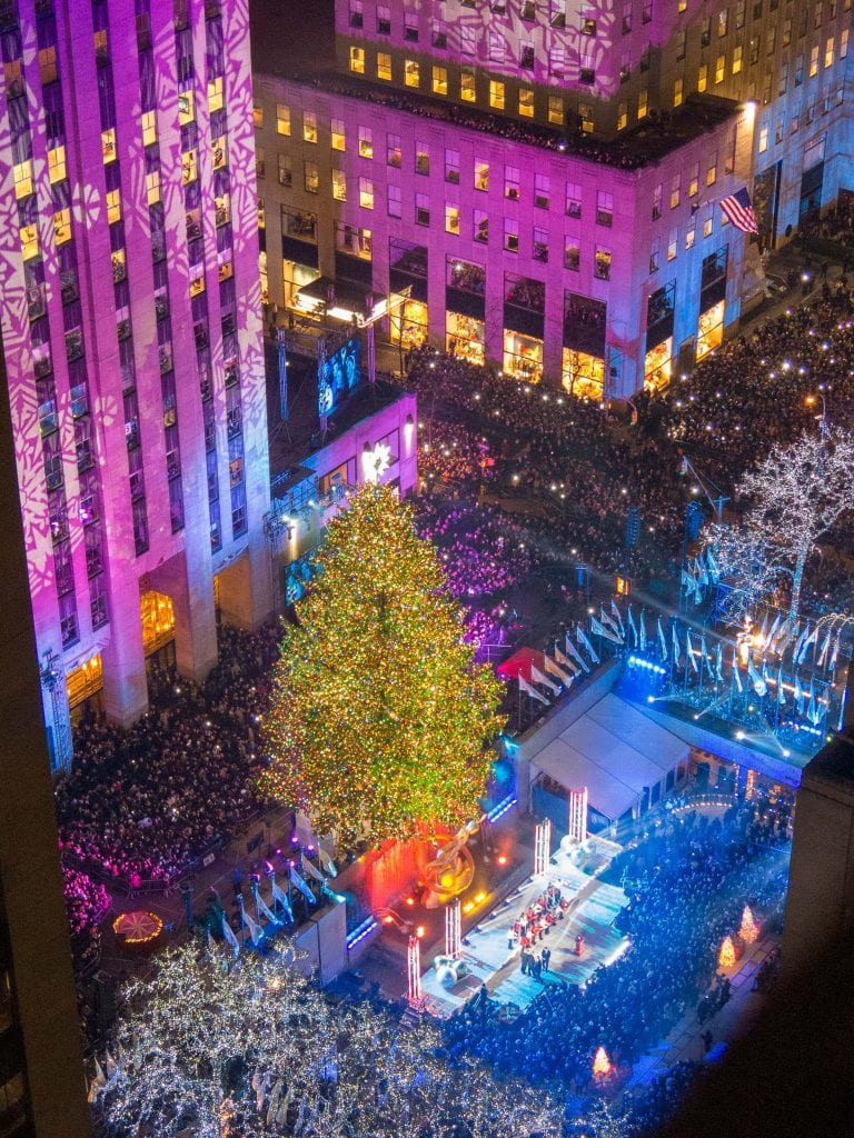 NYC for Kids: Rockefeller Tree Lighting Ceremony