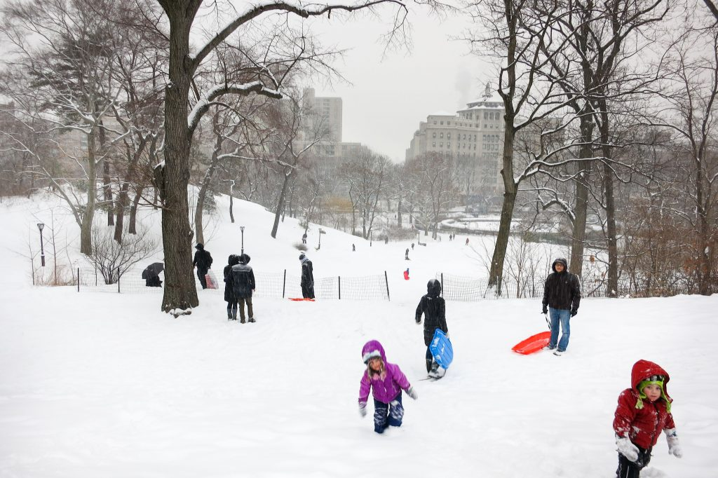 NYC for Kids: Sledding in Central Park