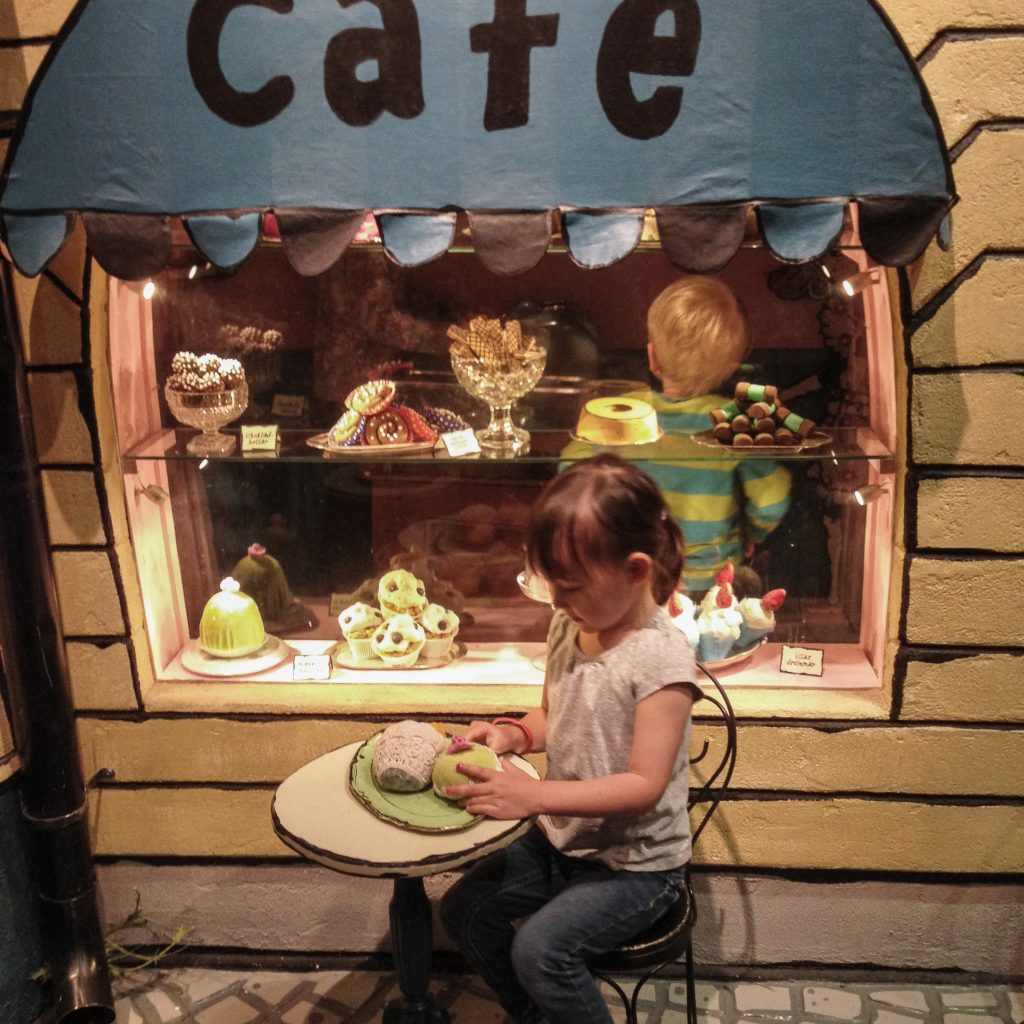 Things to do in Stockholm with kids_Girl playing at Junibacken