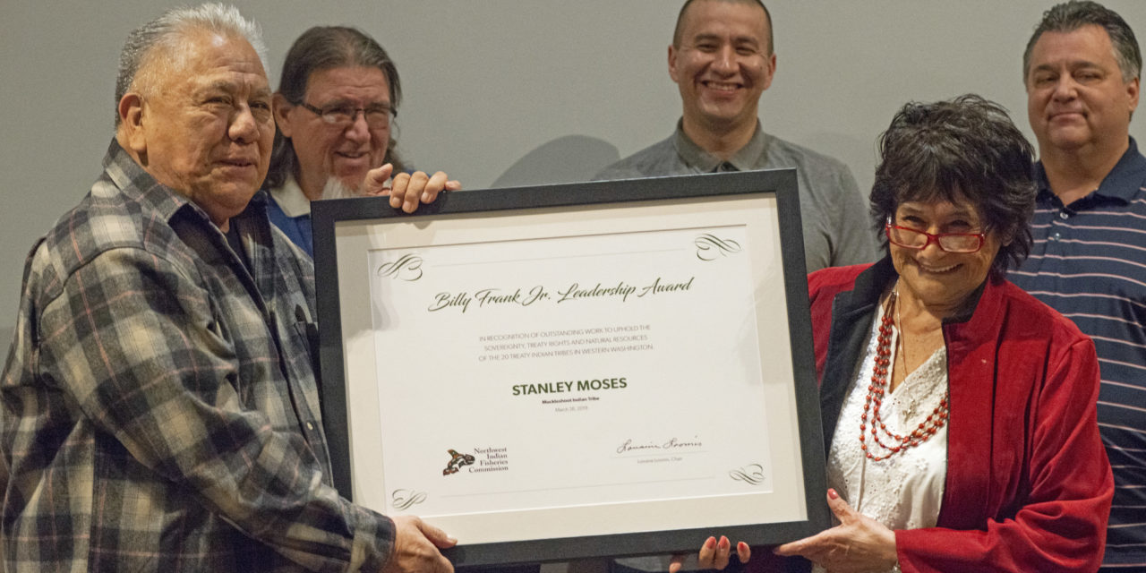 Moses Receives 2019 Billy Frank Jr. Leadership Award