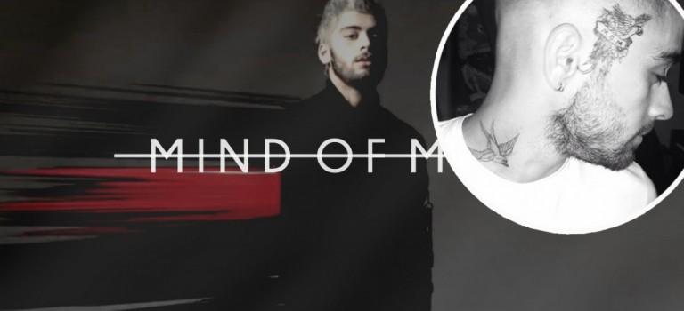 真假的? Zayn Malik把新專輯名字紋在帥臉上?