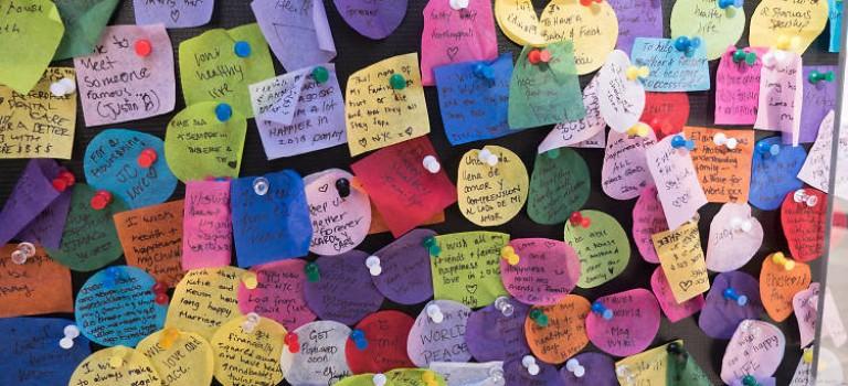 去時代廣場寫下你的2017新年願望,跨年倒數計時就有你的一份哦~