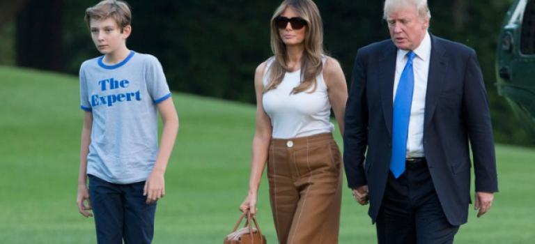 告別紐約!第一夫人和第一兒子終於正式入住白宮!