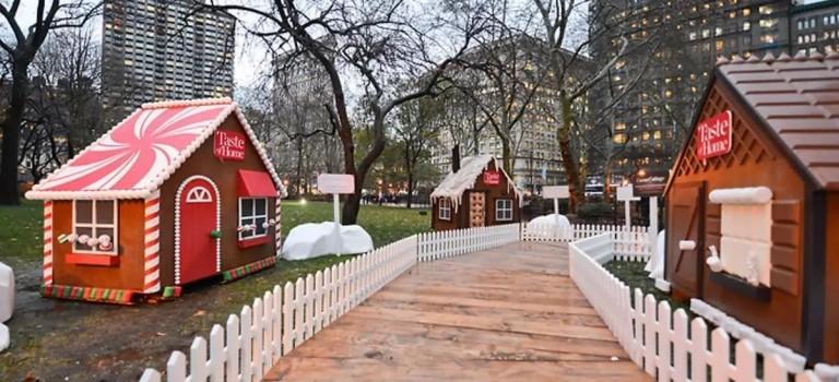現實版真實大小的「夢幻姜餅屋」,又要降臨紐約曼哈頓啦!