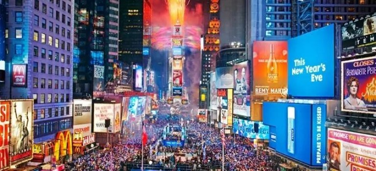 紐約跨年煙火上哪兒看最舒服? 除了時代廣場還有這些地方!