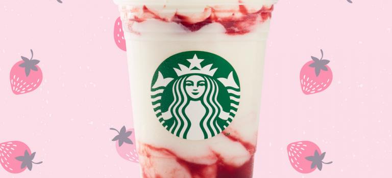 千呼万唤!少女心炸裂的草莓星冰乐终于登陆星巴克永久菜单啦~