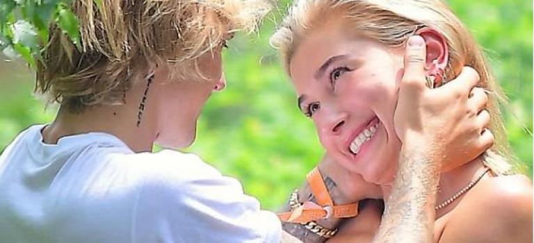 太甜了!!小賈和海莉鮑德溫林間甜蜜擁吻照曝光,兩人都陷很深!