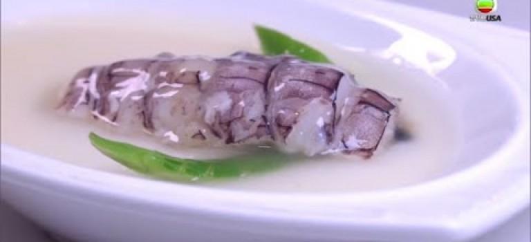 【驚喜私房菜推介】花雕蛋白蒸賴尿蝦 + 海鮮湯泡飯