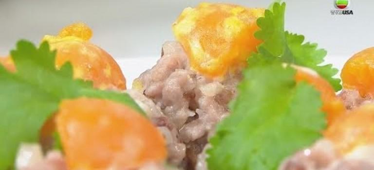 金銀肉芋頭餅 – 睇片學煮餸