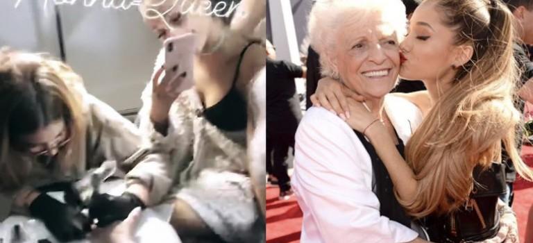 Ariana Grande帶93歲的奶奶去紋身!全程記錄這超酷的時刻