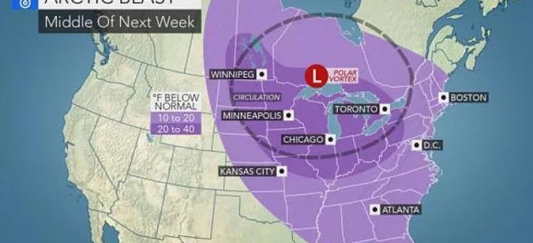 """罕见""""极地气旋""""驾到,致命寒潮将带来零下50度超低温!"""