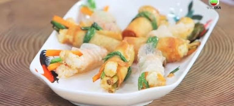 阿爺食譜 | 雜菜鮮蝦卷