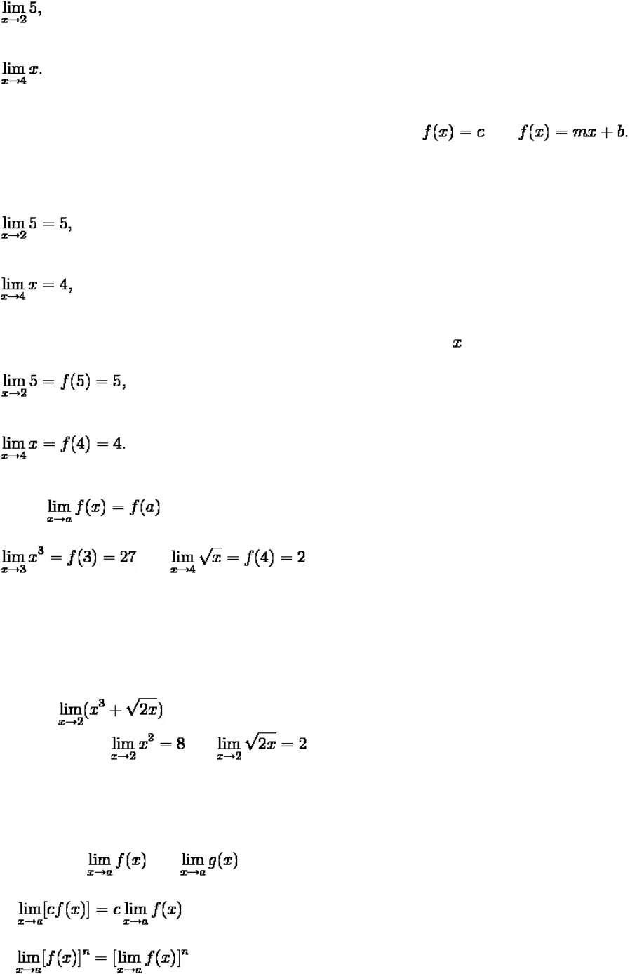 1  Functions, Limits, and Continuity