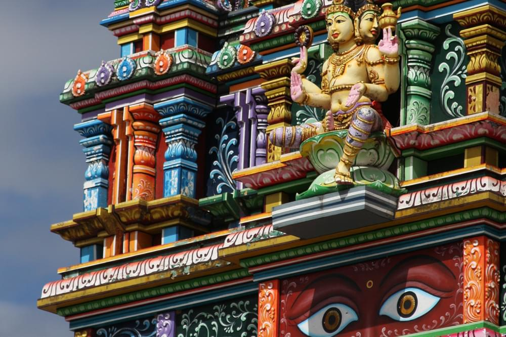 hindu temple colorful fiji