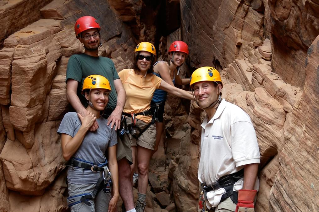 family canyoneering in the desert southwest