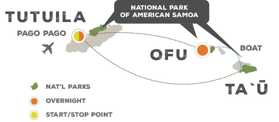 Maimoana: American Samoa - Trip Map