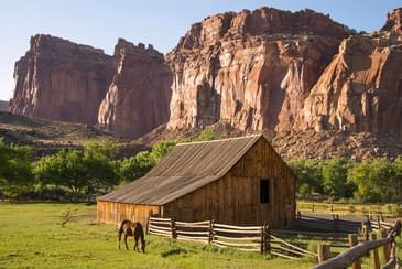 Capitol Reef horse barn