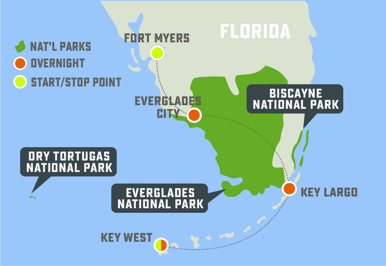 Wild Florida - Trip Map