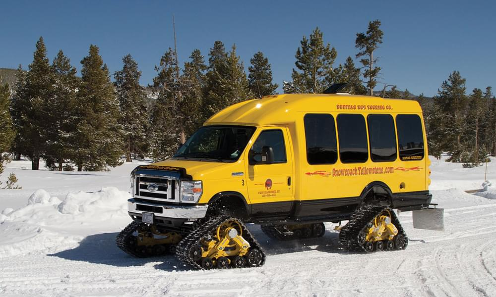 snowcoach transportation in yellowstone national park