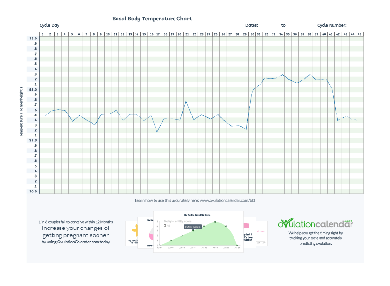 Blank BBT Chart & Instructions to Detect Ovulation