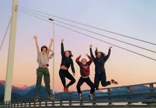 Students jump on Bridge in Sitka