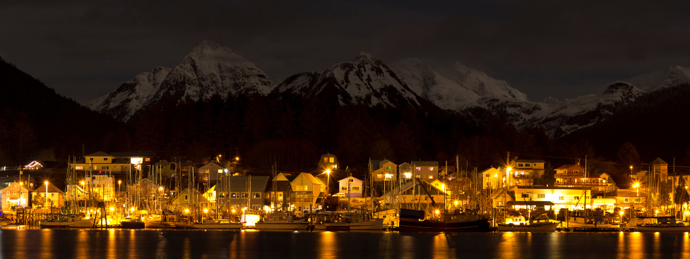 Sitka at night. Credit: James Poulson.