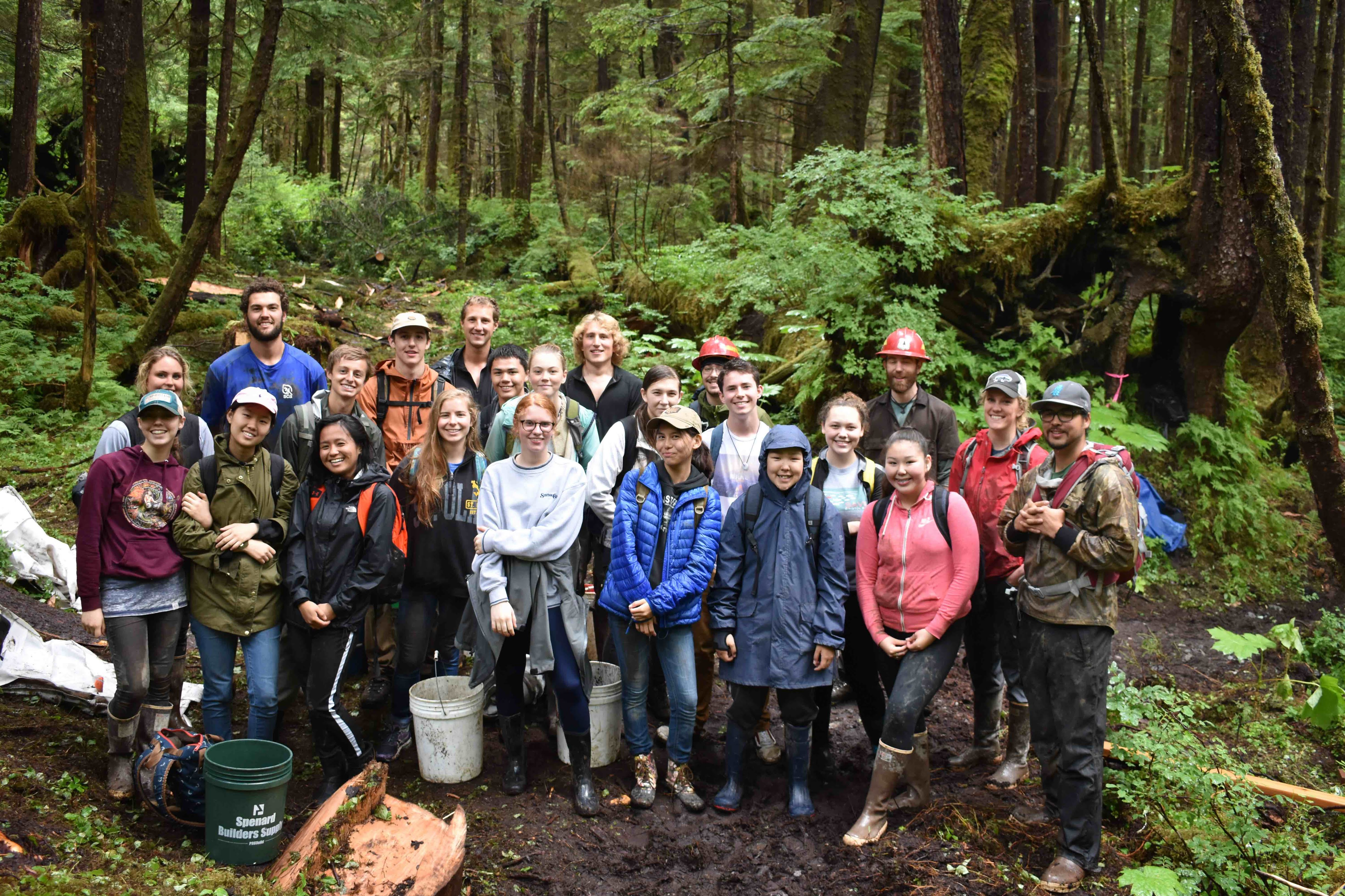 Full Group in Tongass. Credit: Johnny Elliott.
