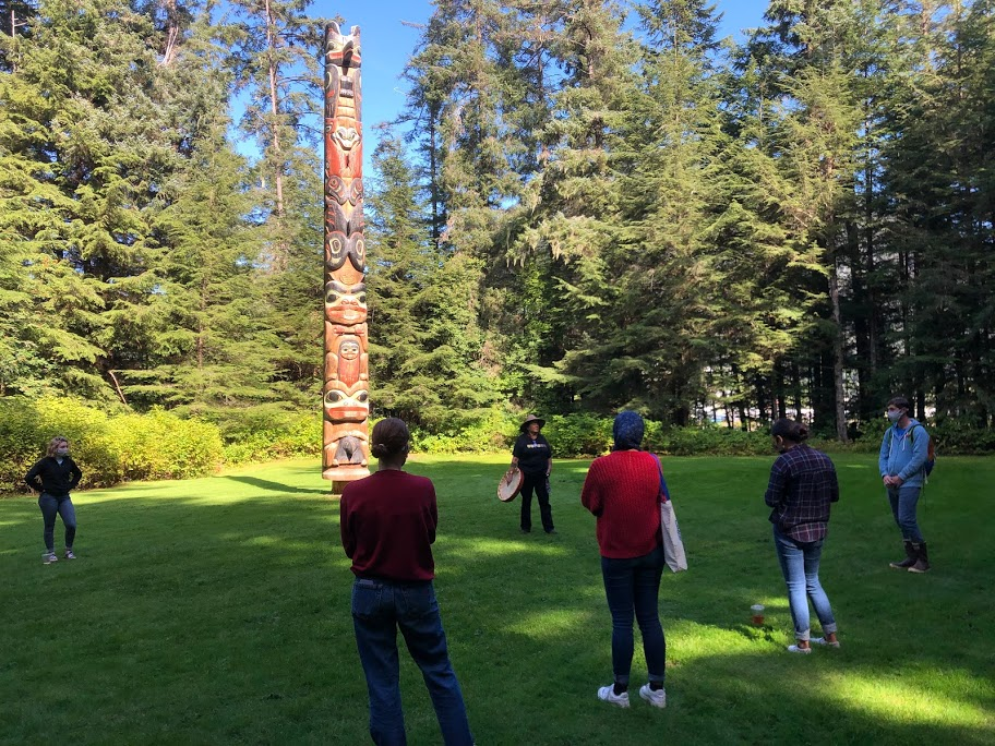 Students in Sitka National Historical Park