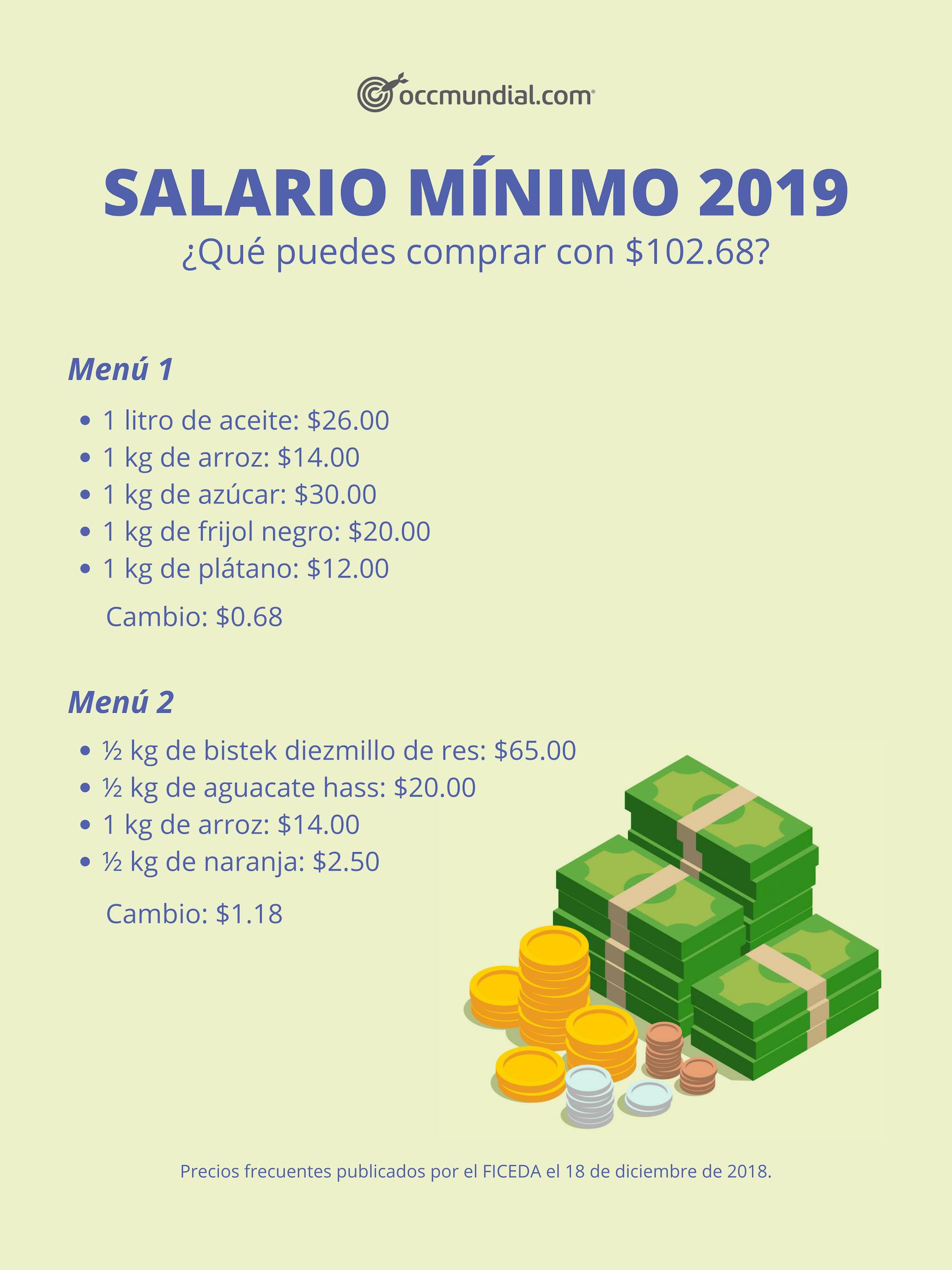 Salario mínimo 2019: ¿para qué alcanza con 102 pesos en ...